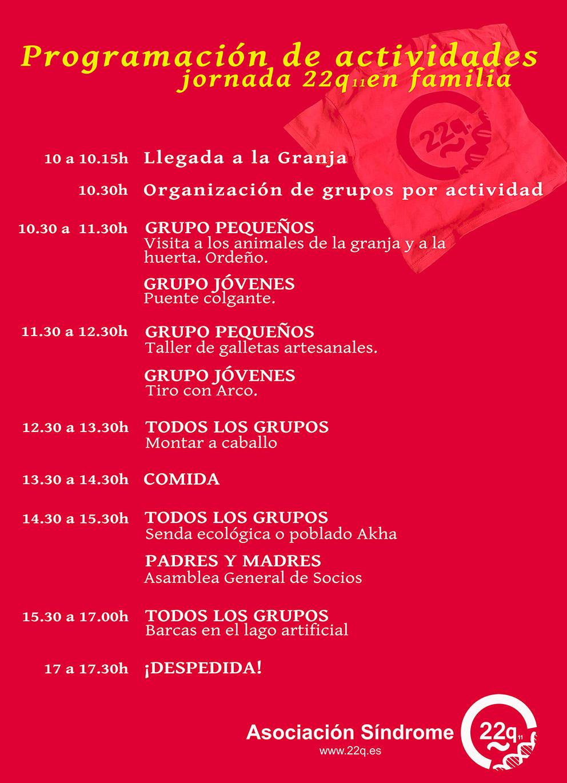 Programa  Día Internacional de Sensibilización/Visibilización 22q 2019